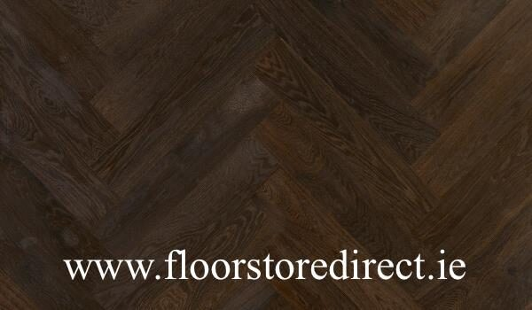 twin herringbone black oak small