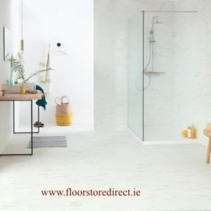 quick step ambient click marble carrara white