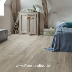quick step pulse click cotton oak grey with saw cuts