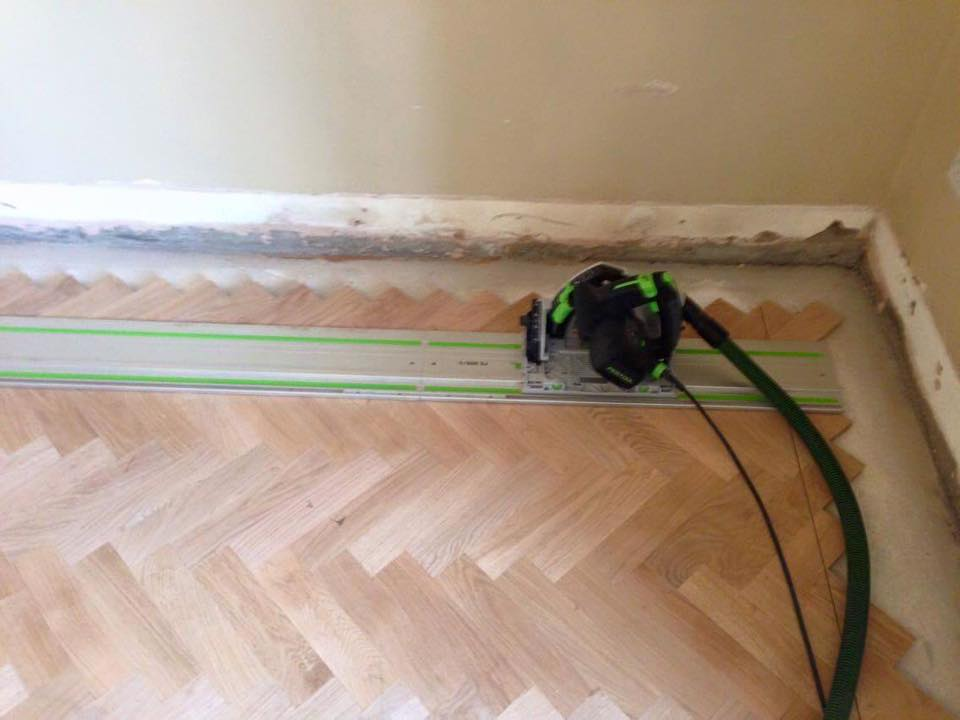 fitting solid parquet