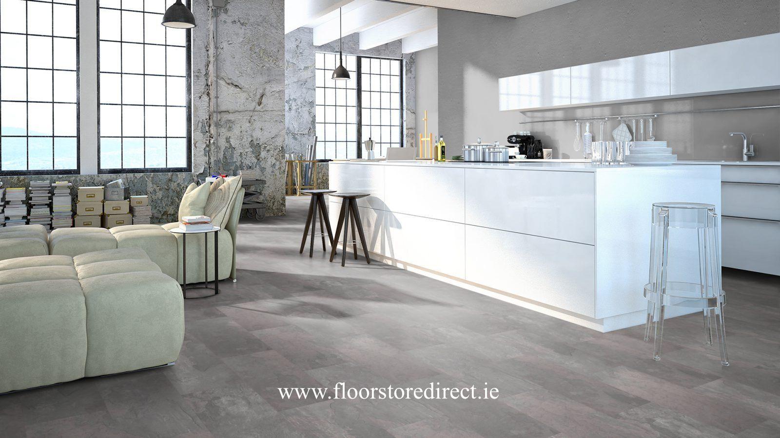 Utopian Tile Slate Grey Floor