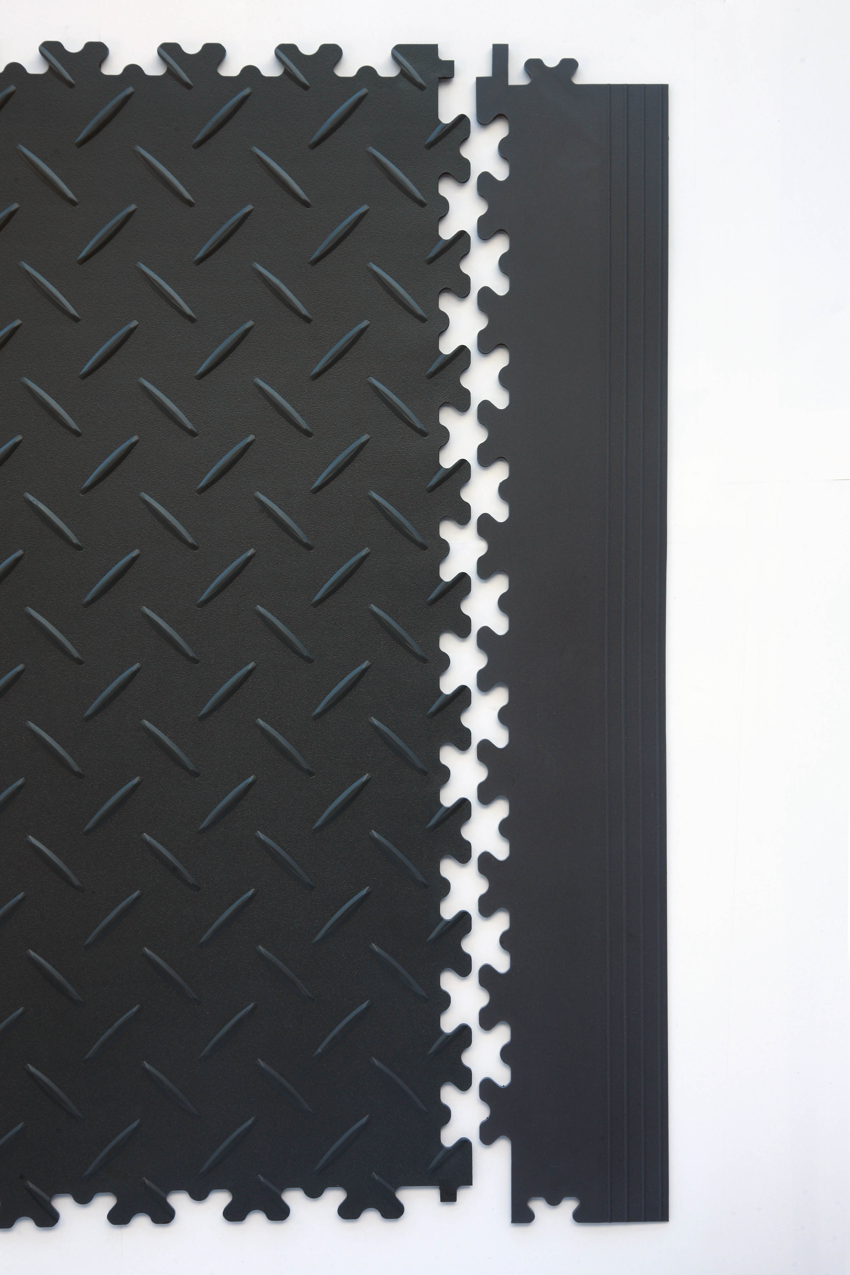 Flexi-Tile Standard Diamond Plate Recycled Black