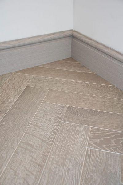 Shannon Oak Premium Herringbone Grey
