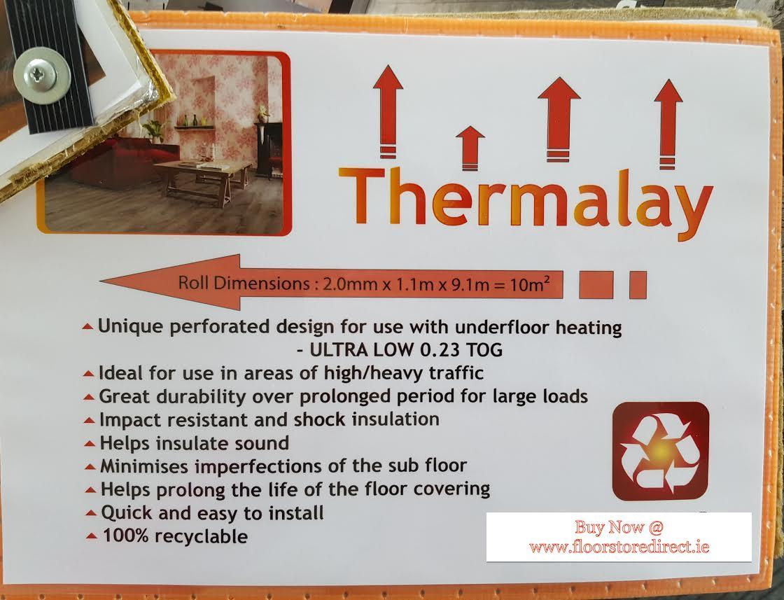 Thermalay Wood Floor Underlay for Underfloor Heating